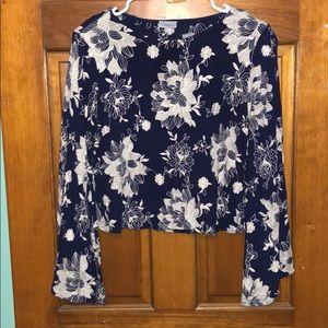 South Moon Under floral blouse